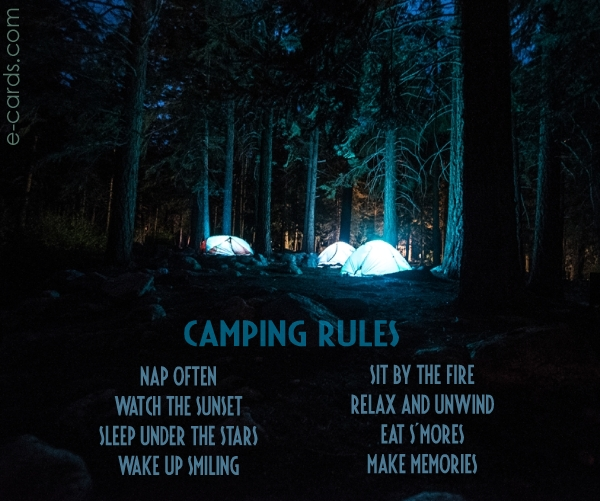 Camping Rules -  (7119971741)