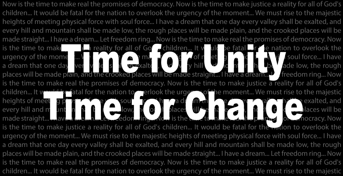 Time for Change (MLK) -  (9620087219)